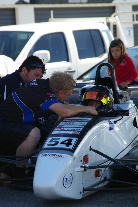 Final instructions form Brett Lupton right before heading out for Qualifying